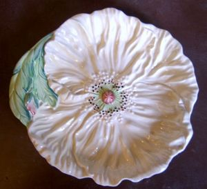 Carlton Ware Embossed 'Poppy' Yellow Plate - 1950s